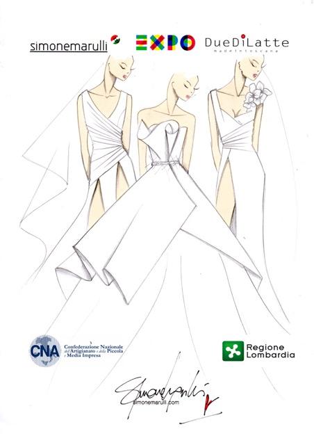 spesso Successo ad Expo per Simone Marulli ed i suoi abiti da sposa in  AL34